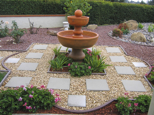 No turf front lawn a must curb appeal and landscape for Water landscape design